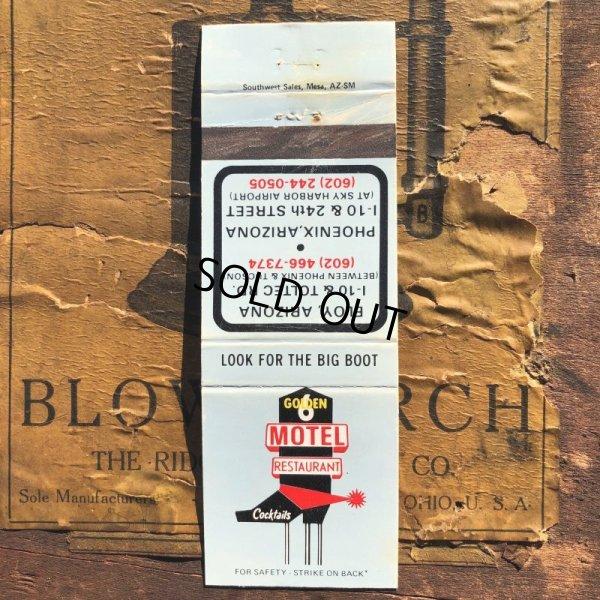 画像1: Vintage Matchbook Golden6 Motel Restaurant (MA1750)