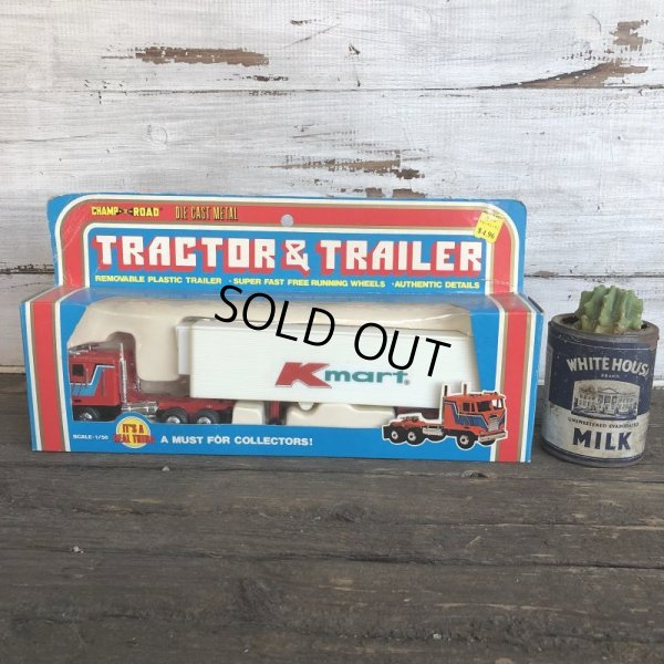画像1: 70s Vintage K-mart TRACTOR&TRAILER W/box (AC198)