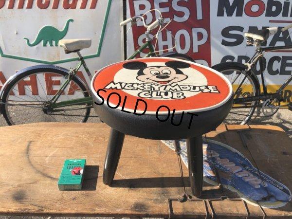 画像1: 60s Vintage DISNEY MICKEY MOUSE CLUB Child's Stool Chair Seat (S370)