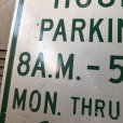 画像5: Vintage Road Sign TWO HOUR PARKING (S388)