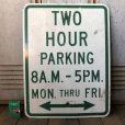 画像1: Vintage Road Sign TWO HOUR PARKING (S388)  (1)
