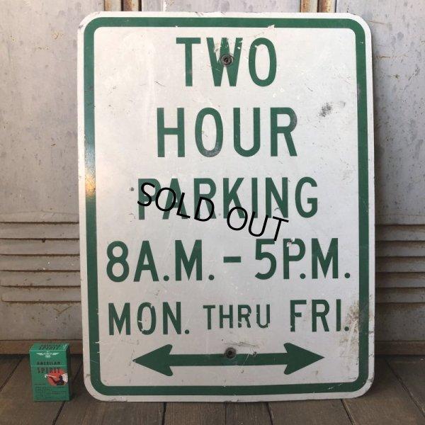 画像1: Vintage Road Sign TWO HOUR PARKING (S388)