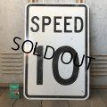 Vintage Road Sign SPEED 10 (S389)
