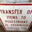 画像3: Vintage Road Sign TRANSFER OF ITEMS TO PEDESTRIANS IS PROHIBITED (S389)