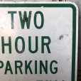 画像4: Vintage Road Sign TWO HOUR PARKING (S388)