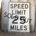 Vintage Road Sign SPEED LIMIT 25 MILES (S394)