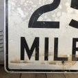 画像2: Vintage Road Sign SPEED LIMIT 25 MILES (S394)  (2)
