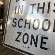 画像3: Vintage Road Sign TRAFFIC FINES DOUBLE IN THIS SCHOOL ZONE (S395)  (3)