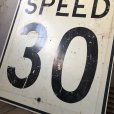 画像7: Vintage Road Sign SPEED 30 (S393)