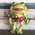 50s Vintage Roll Over Red Rover Frog Squeak Toy (S399)