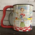 50s Vintage Hand-I-Sift Flour Sifter kitchen (S408)