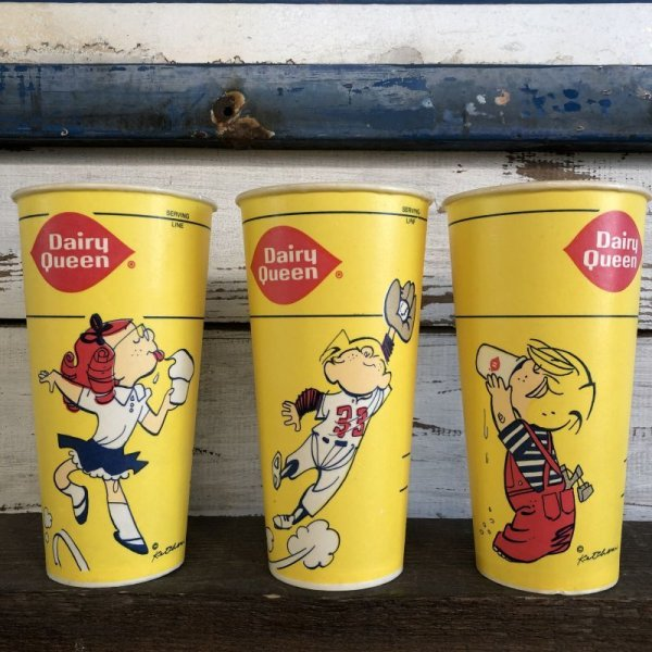 画像2: Vintage Wax Paper Cup Dairy Queen Dennis The Menace (S412)