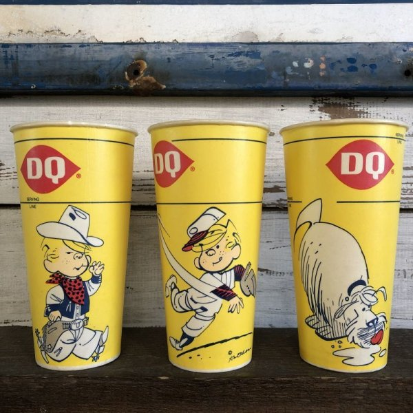 画像1: Vintage Wax Paper Cup Dairy Queen Dennis The Menace (S412)