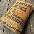 画像6: Vintage Planters Mr Peanuts Burlap Bag ROASTED PEANUTS 1LB (S422)