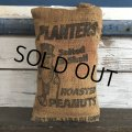 Vintage Planters Mr Peanuts Burlap Bag ROASTED PEANUTS 1LB (S422)
