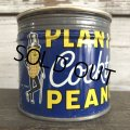 Vintage Planters Mr Peanuts Can W/Handy Coaster (S423)
