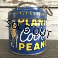 Vintage Planters Mr Peanuts Can W/Nut Chopper (S423)