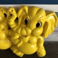 画像3: 70s Vintage Homco Wall Deco Yellow Elephant (S433)