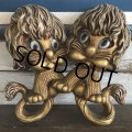 70s Vintage Homco Wall Deco Gold Lion (S434)