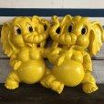 画像1: 70s Vintage Homco Wall Deco Yellow Elephant (S433)  (1)