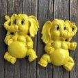 画像10: 70s Vintage Homco Wall Deco Yellow Elephant (S433)