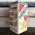 画像1: Vintage Can NABISCO Premium Saltine CRACKERS 14oz (S439) (1)