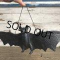 Vintage Halloween Scary Monster Black Bat (S473)