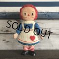 60s Vintage Raggedy Anne Rubber Doll (S486)