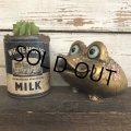 Vintage Ceramic Frog Bank Hippie Flower Power Psychedelic Gold (S489)