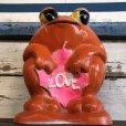 画像6: Vintage Psychedelic Hippie Frog Piggy Bank LOVE (S516)