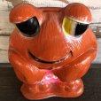 画像7: Vintage Psychedelic Hippie Frog Piggy Bank LOVE (S516)