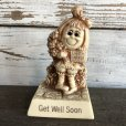 画像1: Vintage Message Doll Get Well Soon PRETTY PLEASE (M136)  (1)
