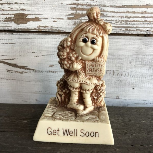 画像1: Vintage Message Doll Get Well Soon PRETTY PLEASE (M136)