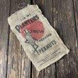 画像1: Vintage Planters Mr. Peanut Burlap Bag ROASTED PEANUTS 1LB (S538) (1)