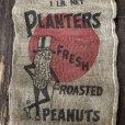 画像5: Vintage Planters Mr. Peanut Burlap Bag ROASTED PEANUTS 1LB (S538) (5)
