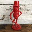 画像1: Vintage Planters Mr. Peanut Plastic Bank Red (S530) (1)