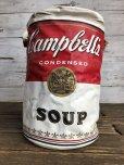 画像1: Vintage Campbell Soup Vinyl Cooler Bag (S543) (1)