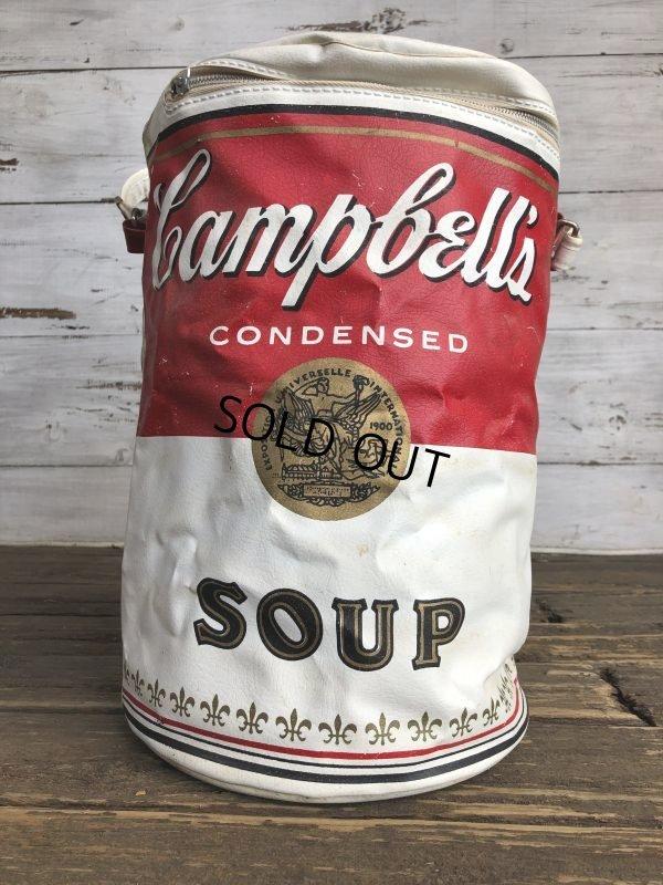 画像1: Vintage Campbell Soup Vinyl Cooler Bag (S543)