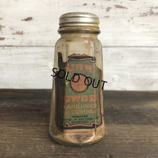 画像1: Vintage Glass Jar CURRY POWDER (S549)
