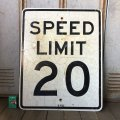 Vintage Road Sign SPEED LIMIT 20 (S575)