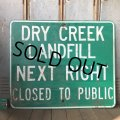 Vintage Road Sign DRY CREEK ... (S574)