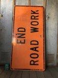 画像1: Vintage Road Sign END ROAD WORK (S576)  (1)