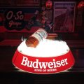 Vintage Budweiser Pool Bar Ceiling Hanging Lamp Sign (S604)