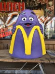 画像1: Vintage Mcdonald's Grimace Statue Playland Childs Chair (S606) (1)