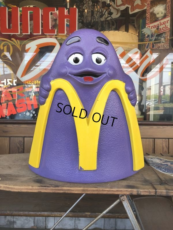 画像1: Vintage Mcdonald's Grimace Statue Playland Childs Chair (S606)