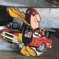 70s Vintage Budweiser Bud Man Mighty Malt Sticker Decal (S615)