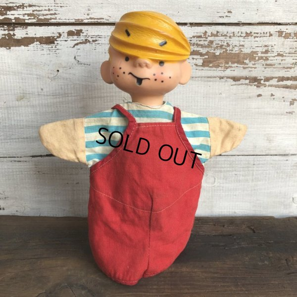 画像1: Vintage Dennis the Menace Hand Puppet Doll (S627)