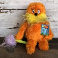 80s Vintage Dr. Suess The Lorax Plush Doll (S641)