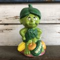80s Vintage Little Green Sprout Musical Bank (S678)