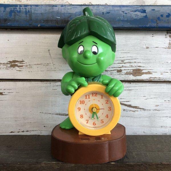 画像1: 80s Vintage Little Green Sprout Talking Alarm Clock (S680)